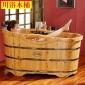 川浴木桶沐浴桶美容院大�加厚成人泡澡桶木浴缸保���木洗澡盆05